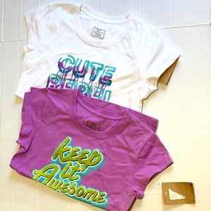 Set of two Nike Girl's tees 10-12 years